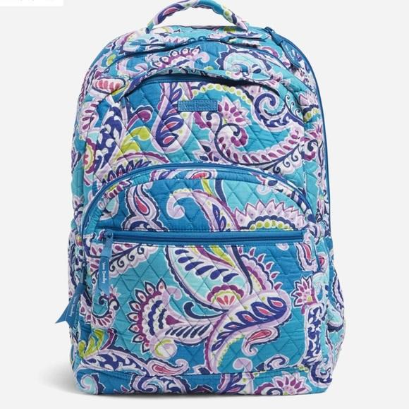 New Vera Bradley Large Essential Backpack